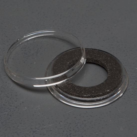 Picture of 20mm A Size Air-Tite Capsule With Black Insert Ring (Shield Nickels, US $3 Gold)